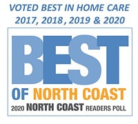 Voted Best in Home Care of North Coast 2017, 2018, 2019, 2020